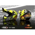 Casco shiro MALCOR MX-306 amarillo fluor